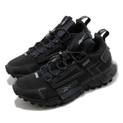 Reebok 休閒鞋 Zig Kinetica Edge 男鞋 輕量 舒適 都市機能 避震 運動 穿搭 黑 灰 FV6157
