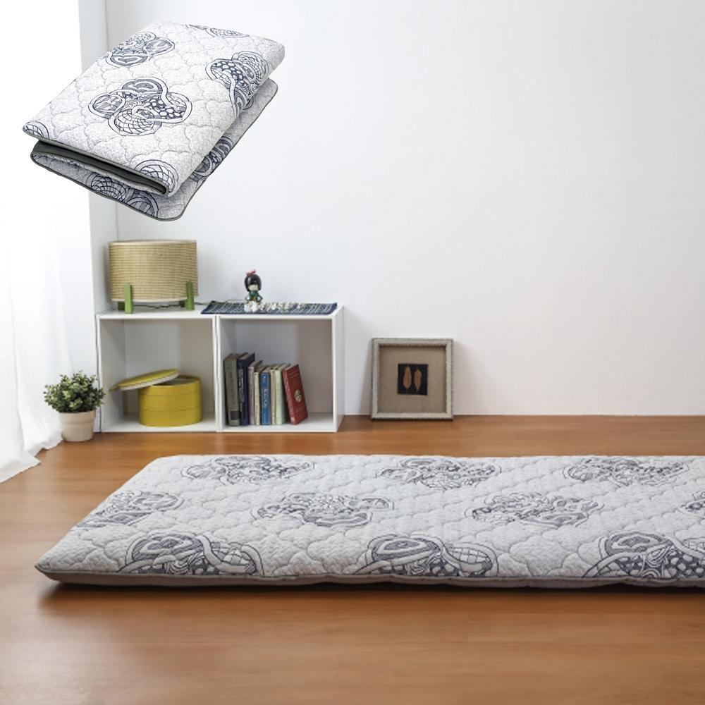 莫菲思 禪繞花紋雙人折疊床墊 - 5X6尺