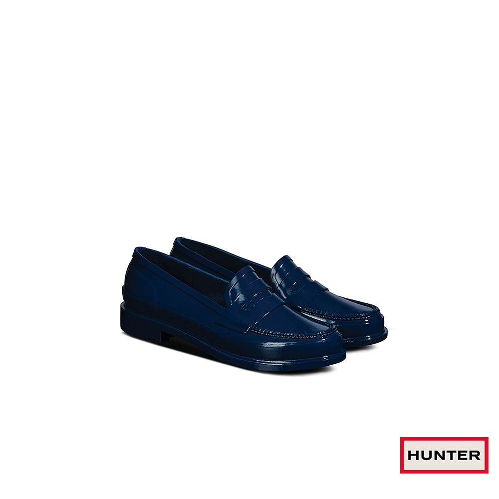 HUNTER - 女鞋-Refined樂福休閒鞋 - 月藍綠 product image 1