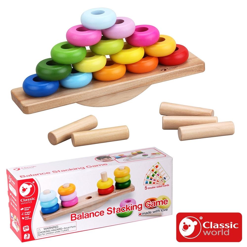 【德國 classic world 客來喜經典木玩】色彩平衡邏輯遊戲《3537》