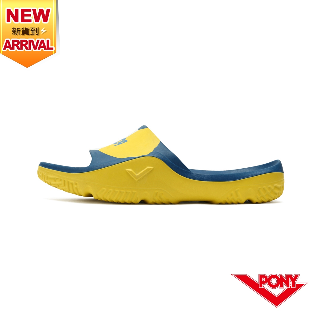 【PONY】PARK-X 防滑運動拖鞋 中性款-藏青黃