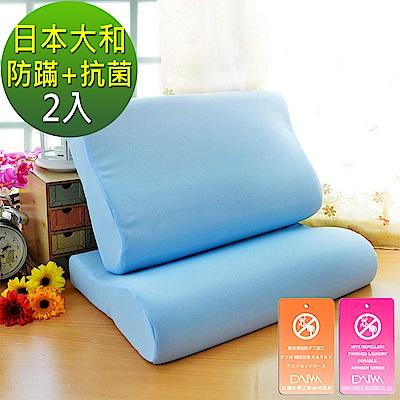 LooCa 日本大和防蹣抗菌工學記憶枕  2入
