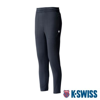 K-SWISS KS Logo Pants吸排運動長褲-男-黑