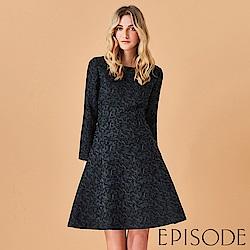 EPISODE - 高貴提花設計洋裝(黑)