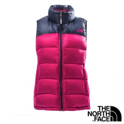 The North Face 女 800 fill 羽絨背心 紫藍-CTV9DRB