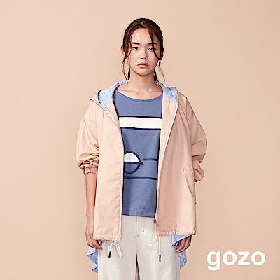 gozo TWO WAY二件式連帽風衣外套(二色)