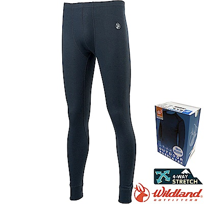 Wildland 荒野 H2676-93深灰色 男Highest彈性保暖褲 發熱褲