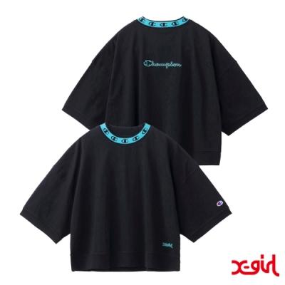 X-girl x Champion S/S MOCK NECK TEE聯名短袖T恤-黑