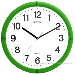 RHYTHM 麗聲 高CP值簡約滑動指針靜音掛鐘-青草綠/28cm