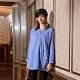 【KiKi】蝙蝠袖-女七分袖直條紋襯衫(藍色/魅力商品/版型適中) product thumbnail 1