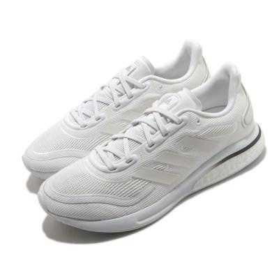 adidas 慢跑鞋 Supernova 低筒 女鞋 愛迪達 緩震 Boost Bounce 白 銀 EG5421