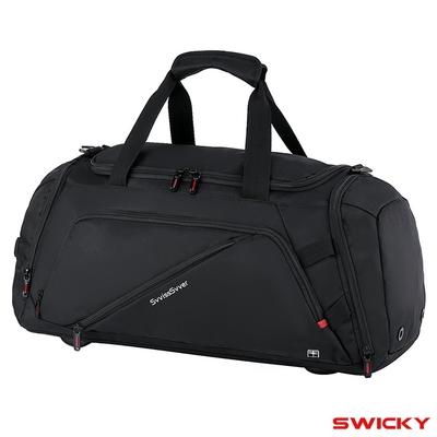 SWICKY~ 大容量多功能可背可提旅行袋(黑)