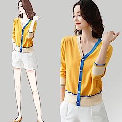 初色  短版開衫針織薄外套-共2色-(F可選)