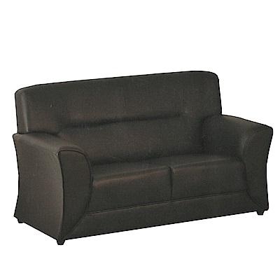 綠活居 邁森時尚黑皮革二人座沙發-148x80x88cm-免組