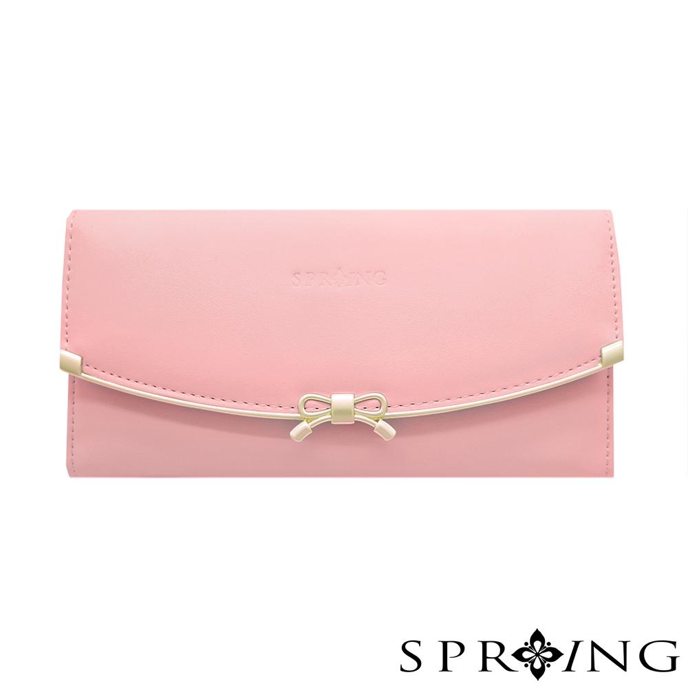 SPRING-甜美蝴蝶結長夾-櫻花粉