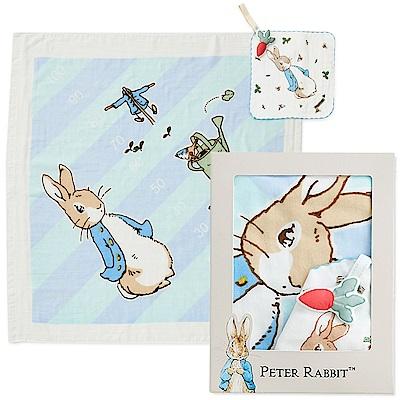 奇哥 比得兔紗布浴巾/包巾禮盒(2色選擇)