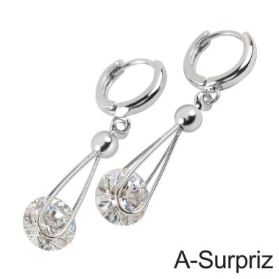 A-Surpriz 永恆情意鋯石耳環