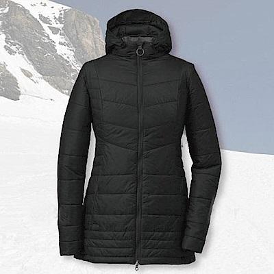 Outdoor Research 女 超輕高抗水連帽保暖科技羽絨外套夾克_黑
