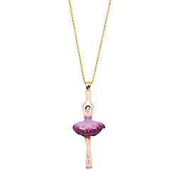 Les Nereides 優雅芭蕾舞女孩系列 紫色蓬蓬裙芭蕾舞者金色項鍊