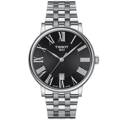 TISSOT天梭 CARSON PREMIUM經典時尚手錶(T1224101105300)
