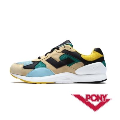【PONY】BOUNCE系列 復古運動鞋 老爹鞋 潮流 球鞋 男款 卡其色