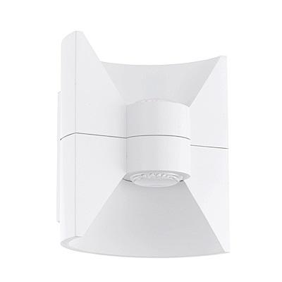 EGLO歐風燈飾 現代風白色內崁式LED壁燈