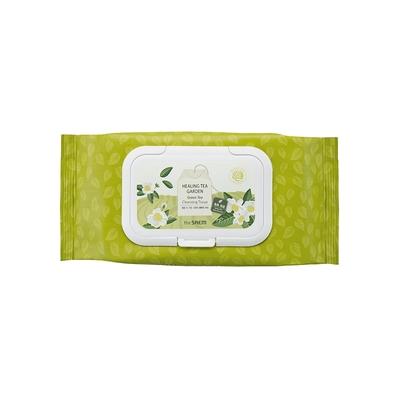 【韓國the SAEM】得鮮-療癒茶園卸妝濕巾(60抽) #綠茶