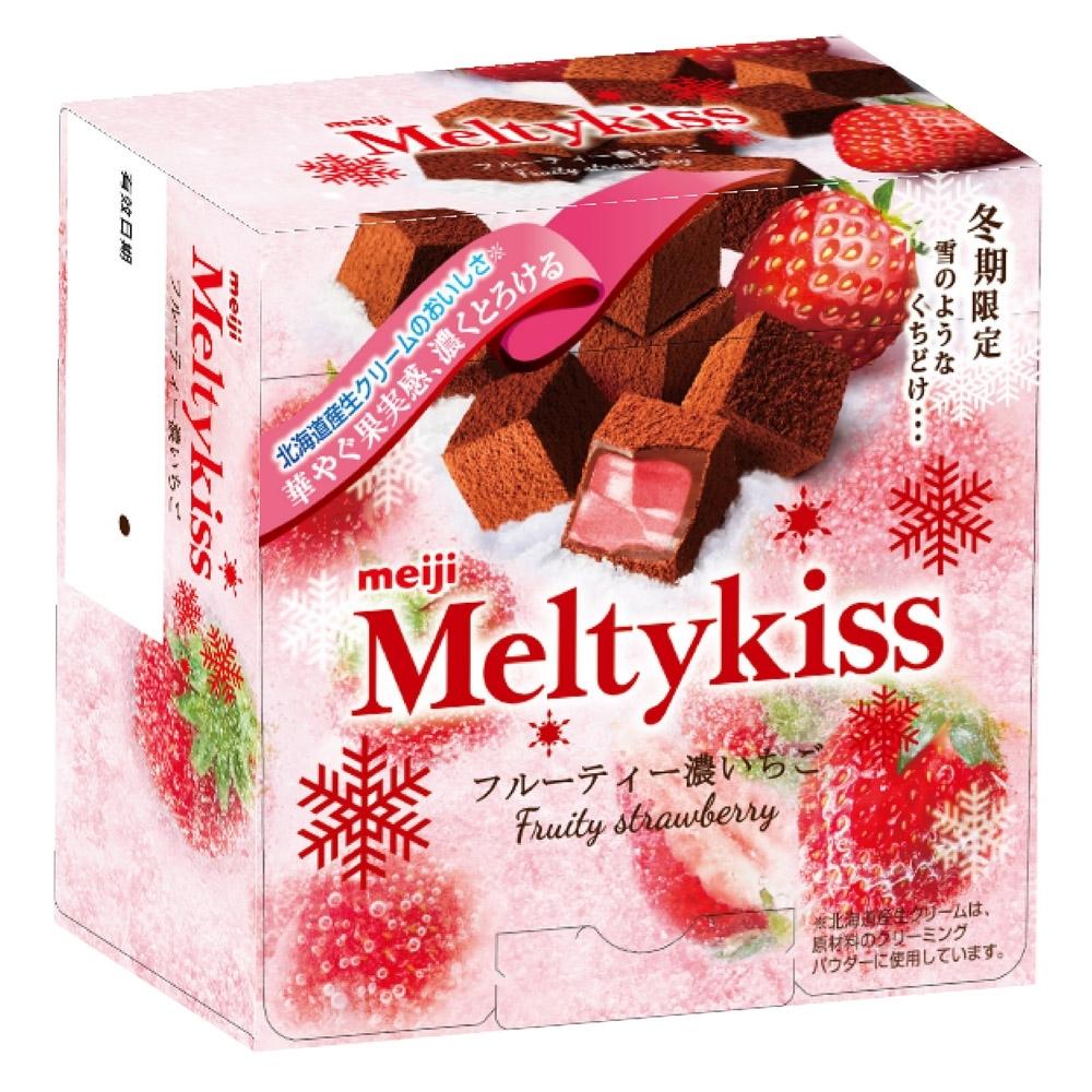 明治 Meltykiss 夾餡巧克力-草莓口味 (56g)