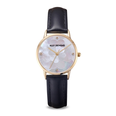 ALLY DENOVO 黑山茶花糖風格琉璃腕錶28mm(AS5010.8)