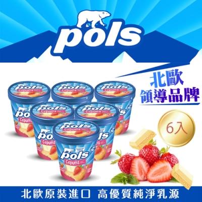 POLS 草莓蛋糕白巧克力冰淇淋(250gX6入)