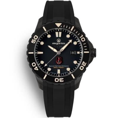 elegantsis 海軍陸戰隊特勤隊 黑水鬼限量機械腕錶 套組 ELJX65AS-ROCMC SSC