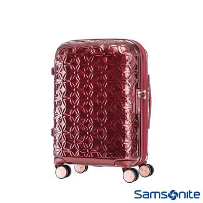Samsonite新秀麗 20吋Theoni 3D花卉圖案可擴充硬殼登機箱(紅)
