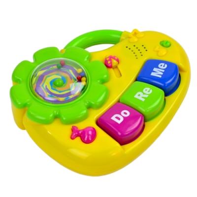 《小小音樂家》太陽花造型兒童成長益智音樂聲響樂器玩具-琴造型