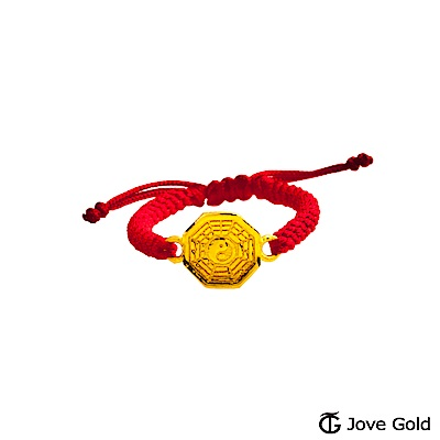 Jove gold 太極鏡黃金編織繩戒指