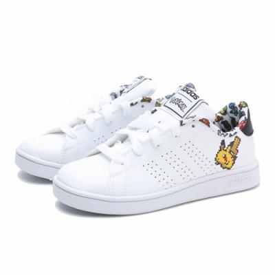 ADIDAS 寶可夢 中大童 休閒鞋 皮革白 EG1999