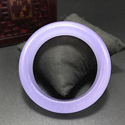 Hera 赫拉 冰透淡紫天然玉髓寬手鐲