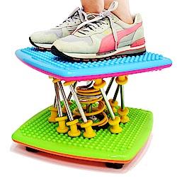 升級版亮彩雙彈簧扭腰跳舞機(結合跳繩.扭腰盤.呼拉圈) 跳舞踏步機