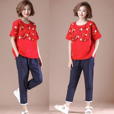 【韓國K.W.】好感印象輕快步伐休閒時尚套裝-2色