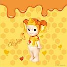 Sonny Angel 藝術家系列蜜糖甜心限定版大型公仔-蜜糖小象