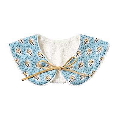 SOULEIADO 芙蓉花2WAY圍兜領巾(藍)