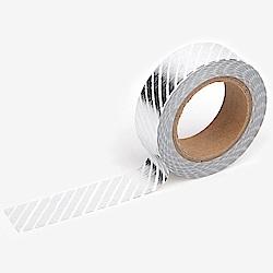 Dailylike 單捲紙膠帶 - 47 銀色斜紋