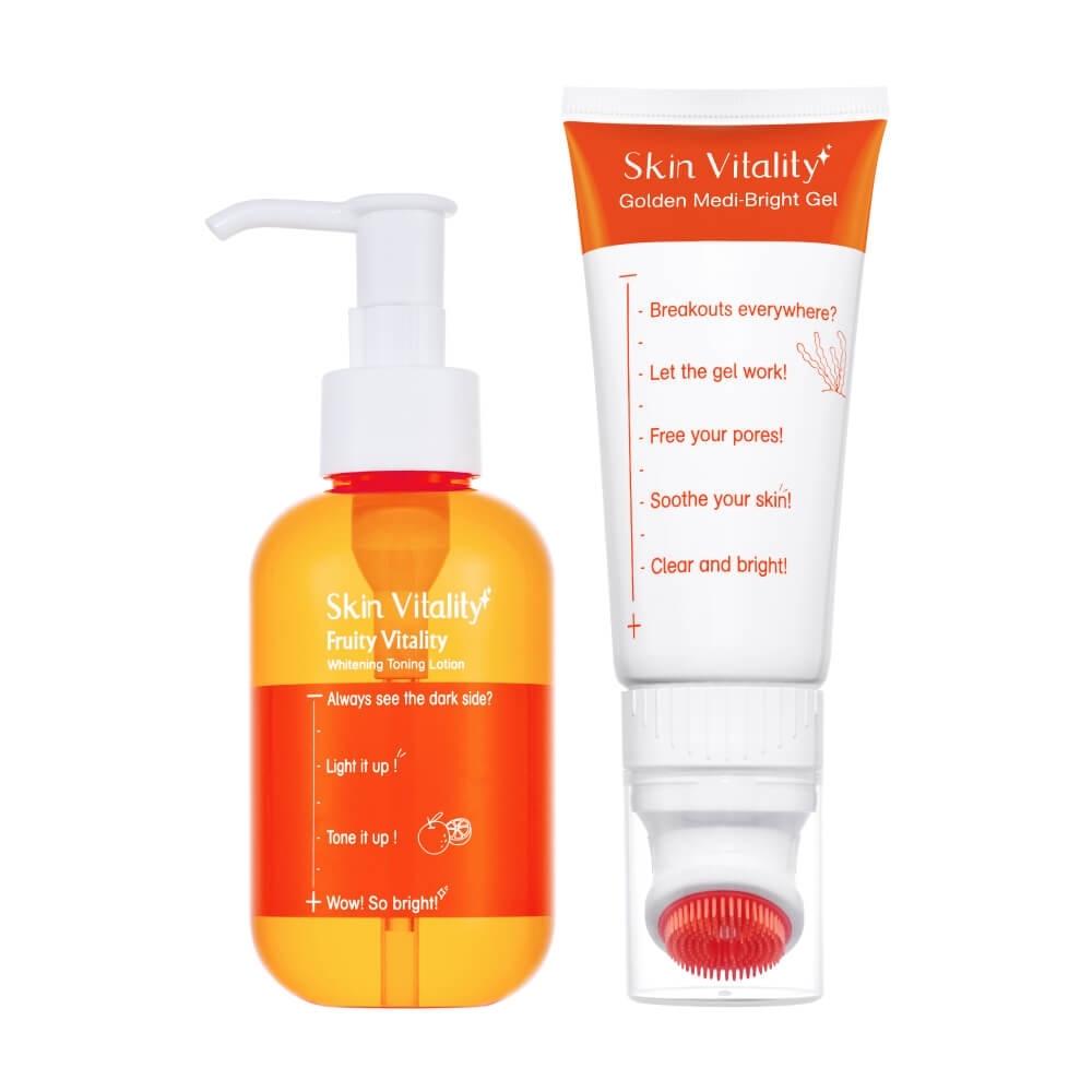 Skin Vitality 膚能量 果然化妝水 150mL+果然海藻毛穴清潔凝凍80mL