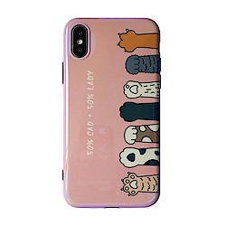【TOYSELECT】iPhone XR 烤瓷貓掌粉嫩手機殼