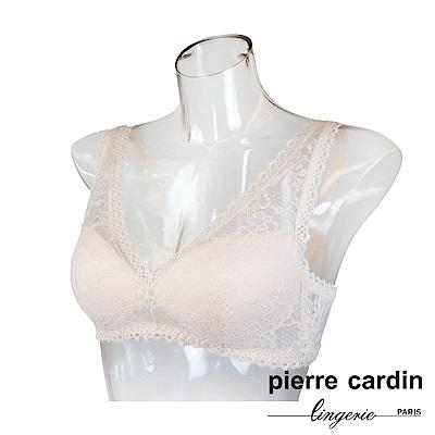 Pierre Cardin皮爾卡登 蕾絲系列無鋼圈內衣-背心款-淺粉
