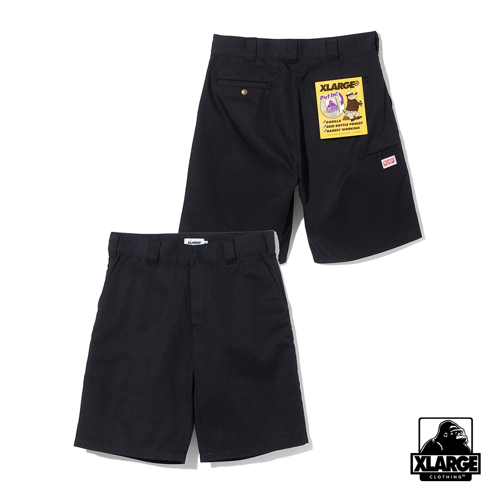 XLARGE SIDE PKT WORK SHORT工作短褲-黑