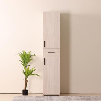 D&T 德泰傢俱 Linda 白橡簡約生活1.3尺衣櫥-40x60x200cm