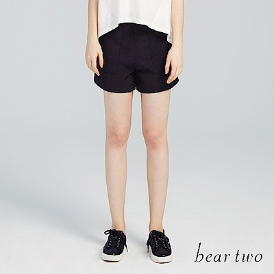 beartwo 高雅俐落西裝短褲(黑色)