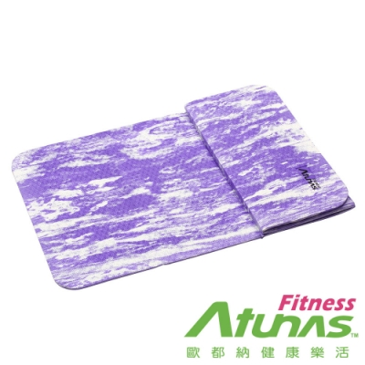 【ATUNAS 歐都納】多功能輕巧折疊瑜珈運動墊MFM-5712紫白大理紋/伸展運動健身/五折墊