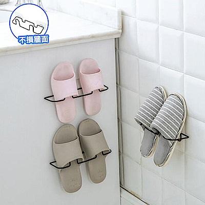 E-dot 免釘無痕掛壁式立體鞋架