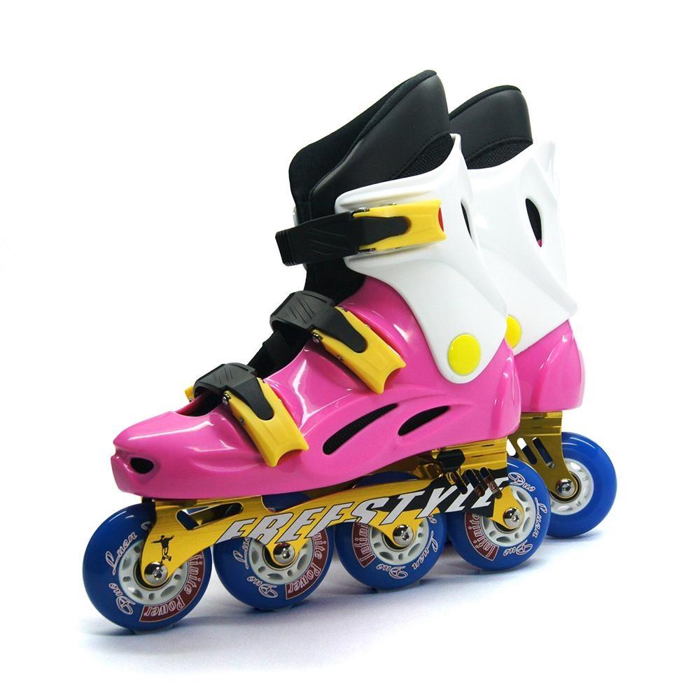 DLD多輪多 鋁合金底座 專業競速直排輪 溜冰鞋 粉紅白 FS-1 附贈太空背包